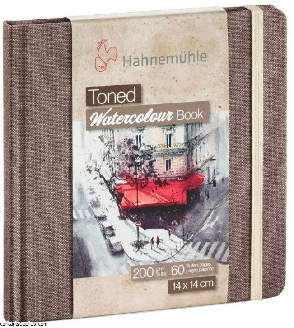 Hahnemuhle Toned Watercolour 200gm Square 14cm 60pg Beige