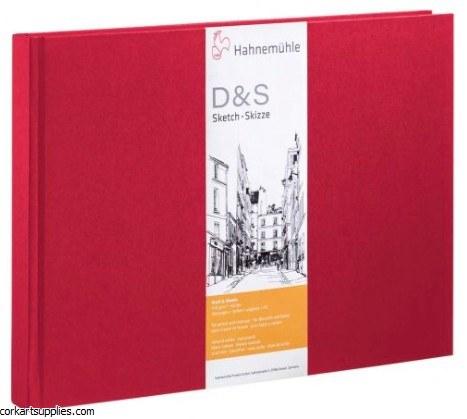 Hahnemuhle Hardback A5 Landscape Red 140gm 80 pages