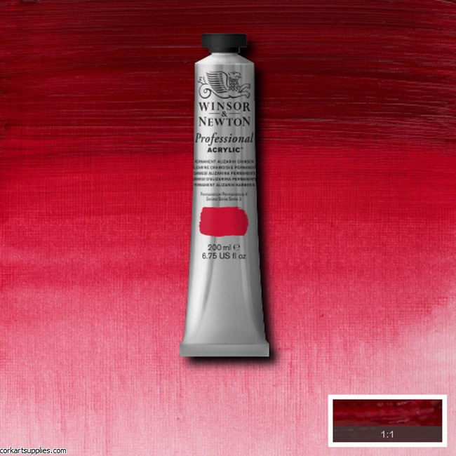 Permanent Alizarin Crimson 200ml Artists' Acrylic Winsor & Newton