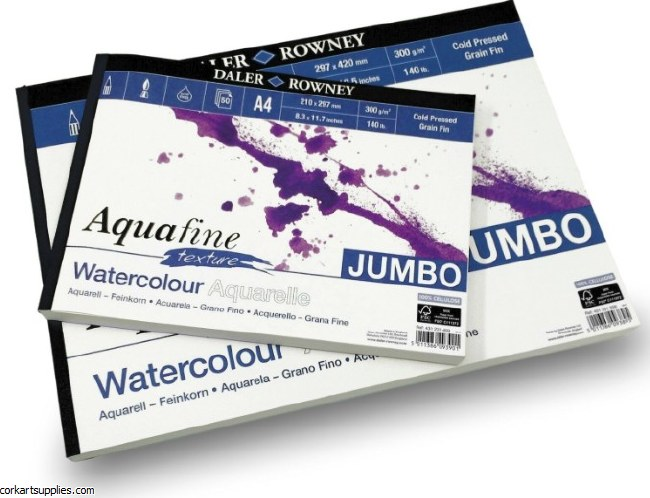 Aquafine Watercolour Pad A3 Not/CP 50 sheets