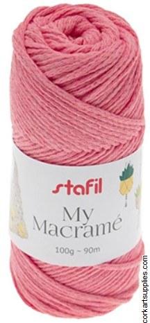 Macrame Cord 3mm 90M Baby Pink