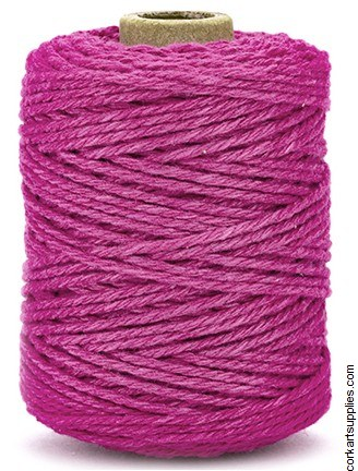 Cotton Cord 2mm 50m Brigt Pink
