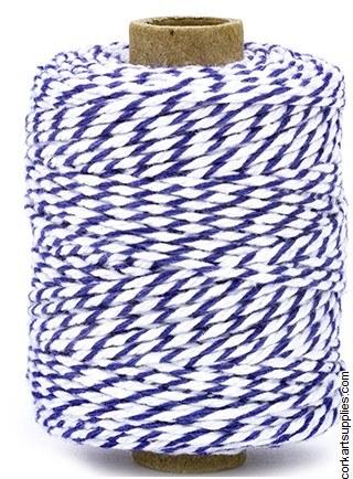String Striped 2mm 50m Blue