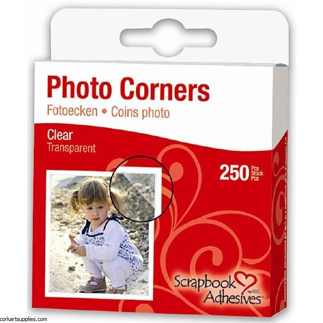 Photo Corners 3L Clear 250pk