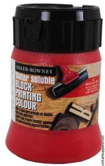 Block Printing Ink 250ml Daler Brill Red