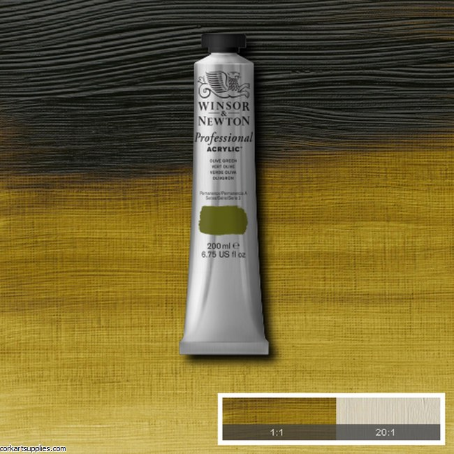 Olive Green 200ml Artists' Acrylic Winsor & Newton