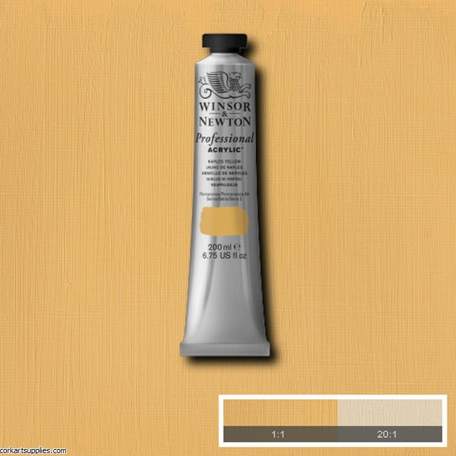 Naples Yellow 200ml Artists' Acrylic Winsor & Newton