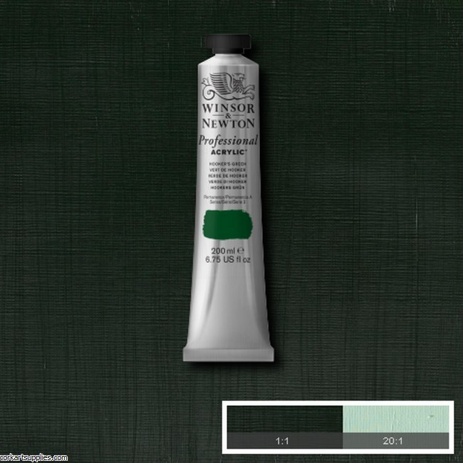 Hookers Green 200ml Artists' Acrylic Winsor & Newton
