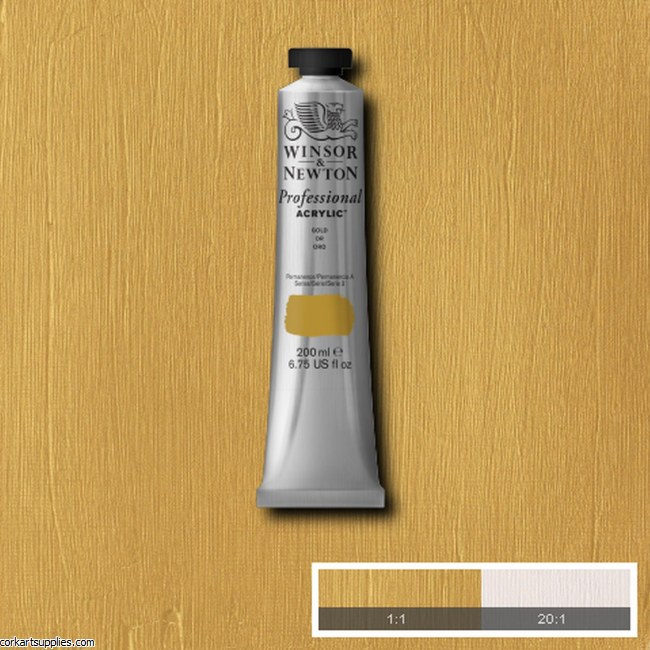 Gold 200ml Artists' Acrylic Winsor & Newton