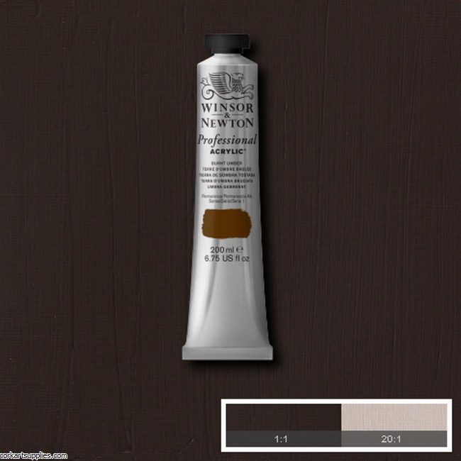 Burnt Umber 200ml Artists' Acrylic Winsor & Newton