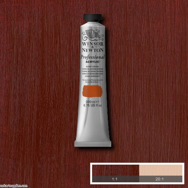 Burnt Sienna 200ml Artists' Acrylic Winsor & Newton