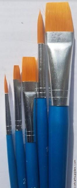 Synthetic Brush 2R&3F 5pk