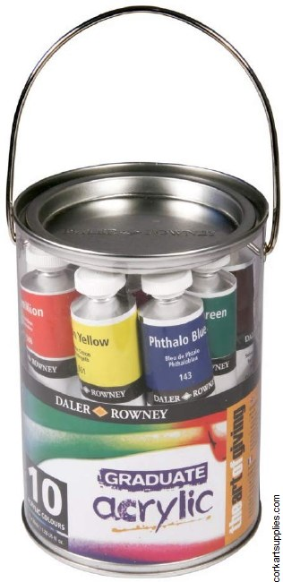 Graduate Acrylic Pot 10pk