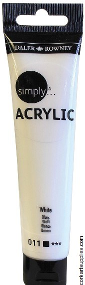 Simply Acrylic 75ml White