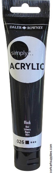 Simply Acrylic 75ml Black