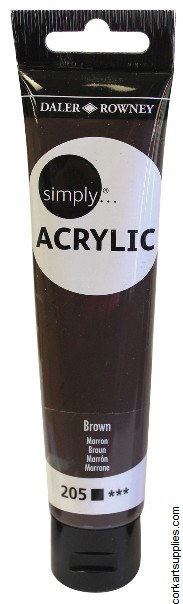 Simply Acrylic 75ml Brown