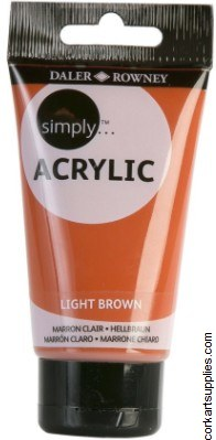 Simply Acrylic 75ml Brown Light