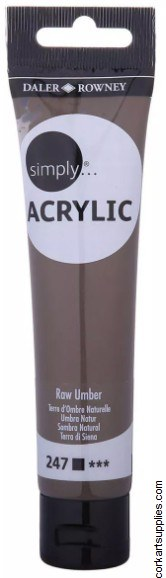 Simply Acrylic 75ml Raw Umber