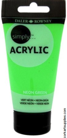 Simply Acrylic 75ml Neon Green