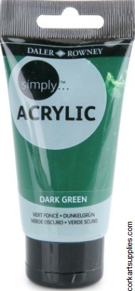Simply Acrylic 75ml Green Dark