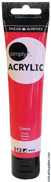 Simply Acrylic 75ml Crimson
