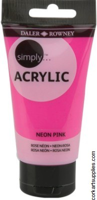 Simply Acrylic 75ml Neon Pink