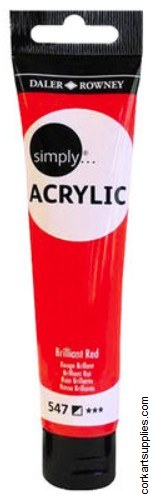 Simply Acrylic 75ml Brill Red