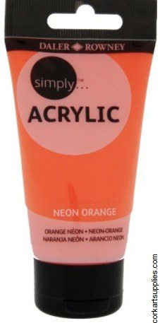 Simply Acrylic 75ml Neon Orange