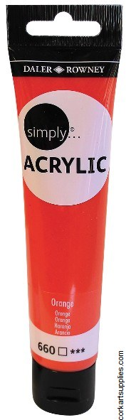 Simply Acrylic 75ml Orange