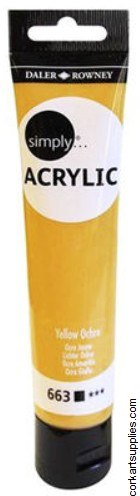 Simply Acrylic 75ml Yellow Ochre