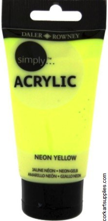 Simply Acrylic 75ml Neon Yellow