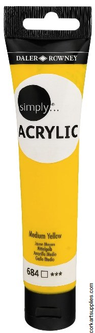 Simply Acrylic 75ml Yellow Medium