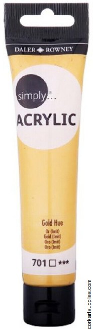 Simply Acrylic 75ml Gold