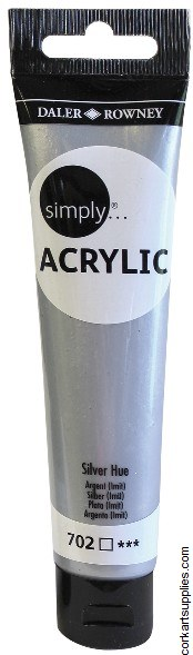 Simply Acrylic 75ml Silver