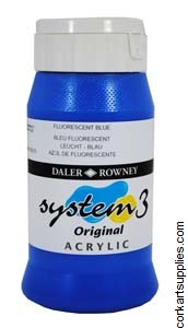 System 3 500ml Fluorescent Blue