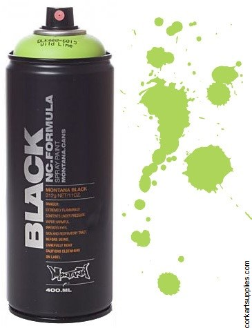 Montana BLACK Spray 400ml - Lime Green