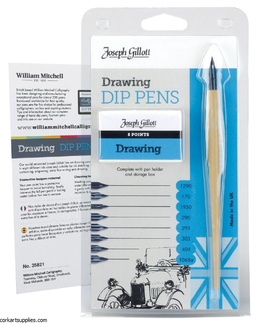 Joseph Gillott Drawing Set 8pk
