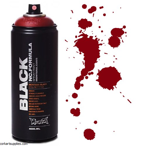 Montana BLACK Spray 400ml - Cardinal Red