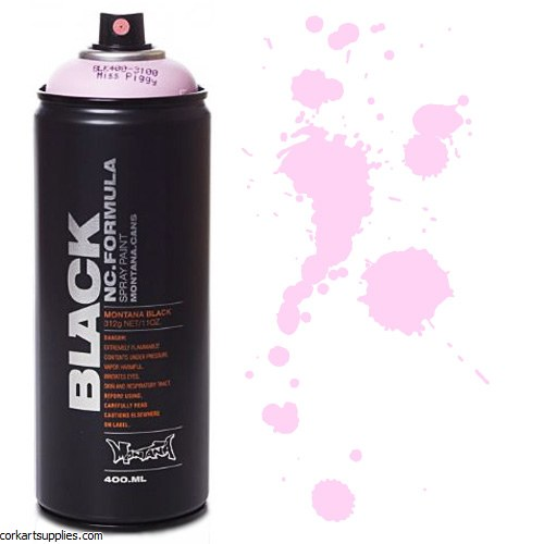 Montana BLACK Spray 400ml - Miss Piggy