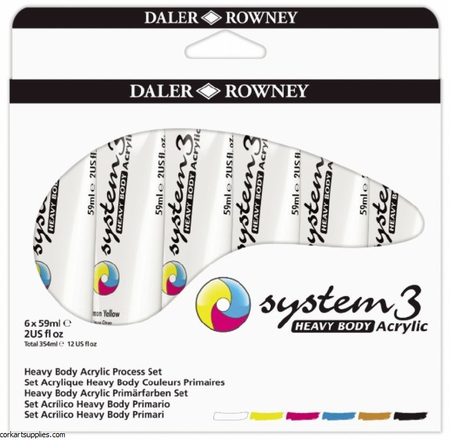 System 3 Set 59ml Heavy Body Starter 6pk