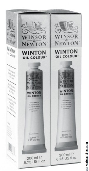 Winton Oil Colour 200ml Twin Pack Titanium White