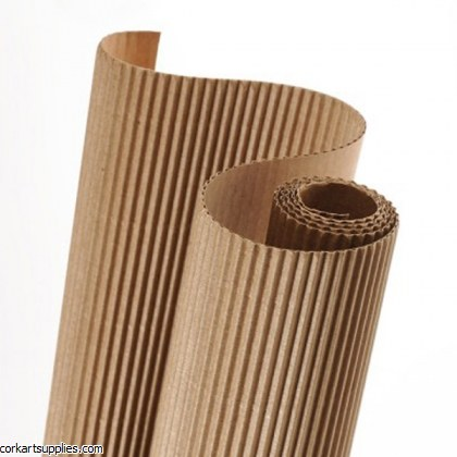 Corrugated Roll 50x70cm Light Brown