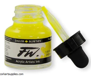 Fw Ink 29.5ml Fluorescent Yel