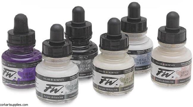 Fw Artists Ink Shimmering 6pk^