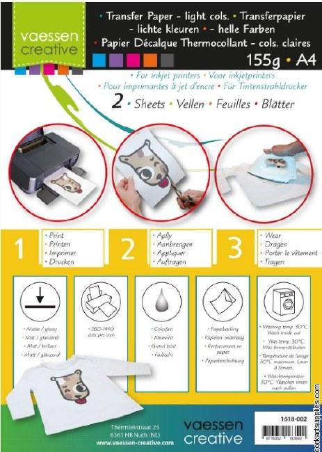 Transfer Paper A4 2pk LightCol