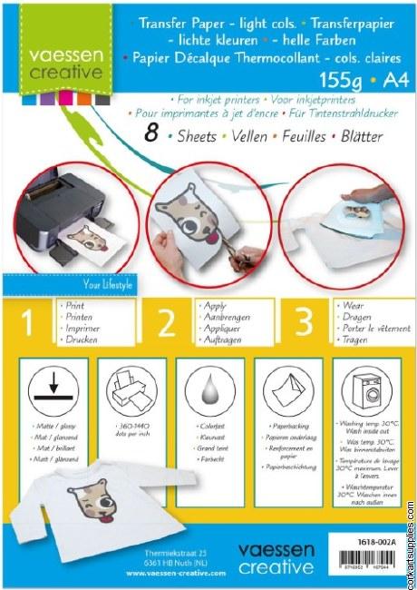 Transfer Paper A4 8pk LightCol