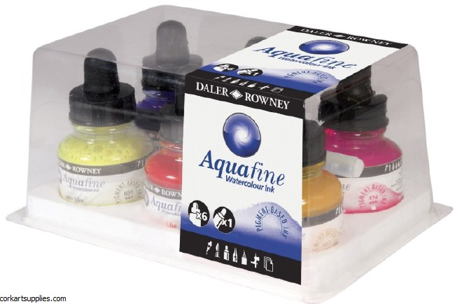 Aquafine 29.5ml W/C Ink 6pk