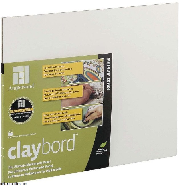 "Claybord Panel 3mm 24x18"""