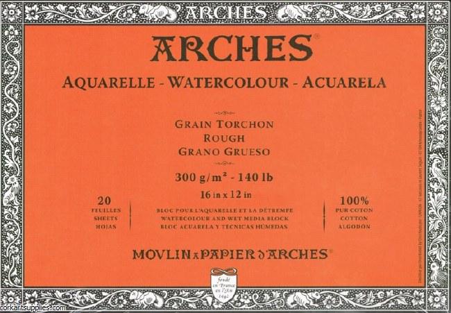 Arches Block 140lb Rough 31x41cm/16x12