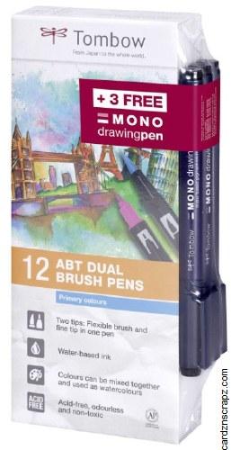 Tombow Brush Primary 12pk